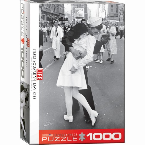 Eurographics Inc. V-J Day Kiss in Times Square by Alfred Eisenstaedt 1000 Piece Jigsaw Puzzle - image 1 of 4