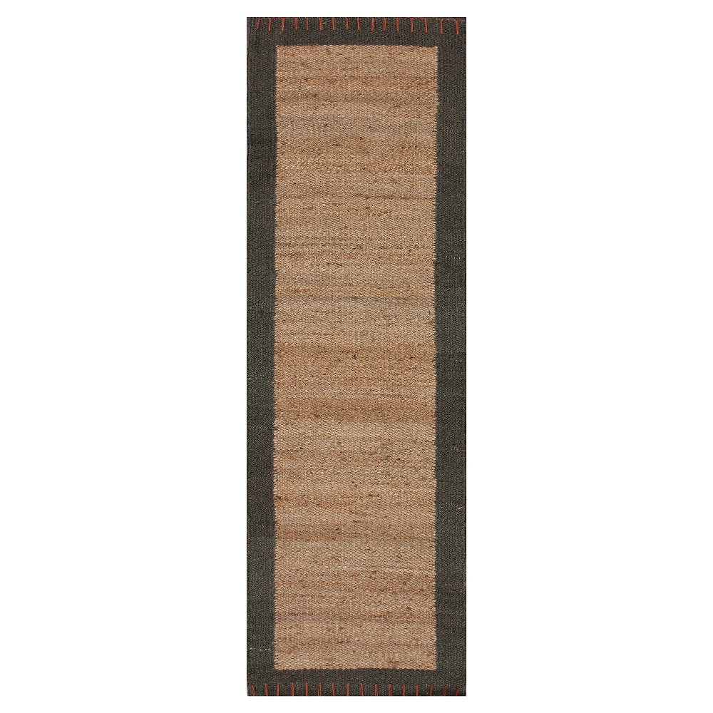 nuLOOM Hand Tufted Jute Cameron Jute Accent Rug - Natural (2'6X8')