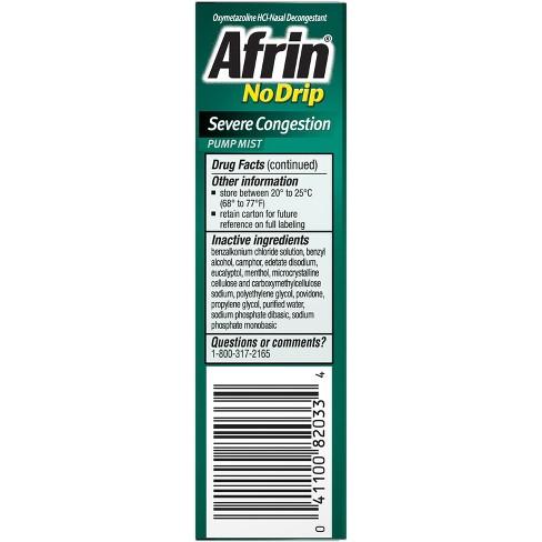 Afrin No Drip Severe Congestion Relief Nasal Mist - 0 5 fl oz