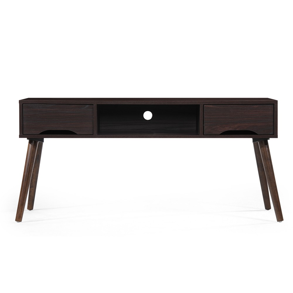 """Image of """"Frieda 47"""""""" Mid Century Entertainment Center Wenge Brown - Christopher Knight Home"""""""