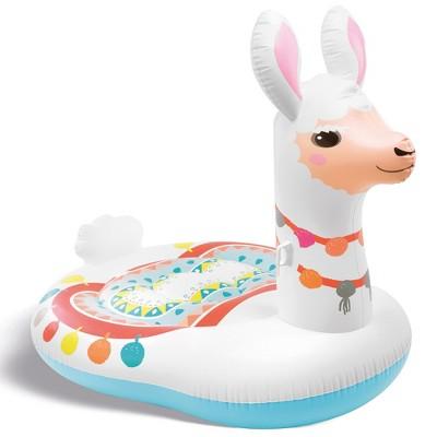 Intex 57294EP Giant Inflatable 6.5 x 5 Foot Mega Llama Island Ride On Swimming Pool Float