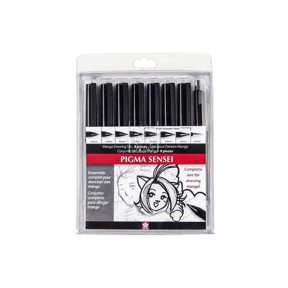 Pigma Sensei Manga Drawing Kit 8pc - Sakura, Black