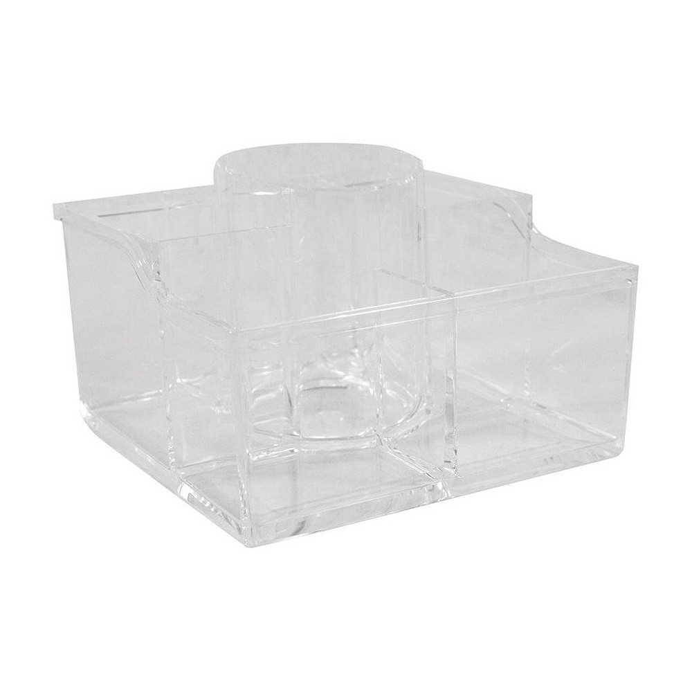 Caboodles Blowout Beauty 6-Compartment Acrylic Crystal Clear