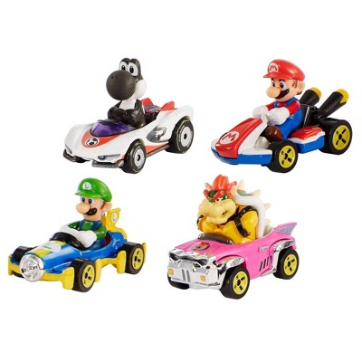 Hot Wheels Mario Kart Diecast 4 Car Pack