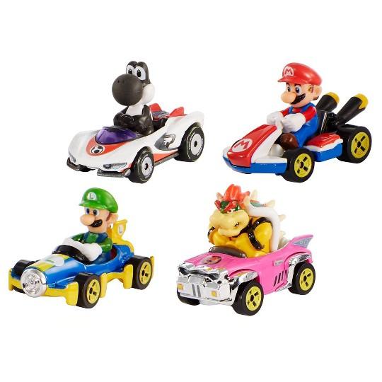 Hot Wheels Mario Kart Diecast 4 Car Pack image number null