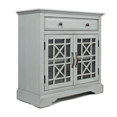"32"" Craftsmen Series Spacious Wooden Accent Cabinet - Benzara"