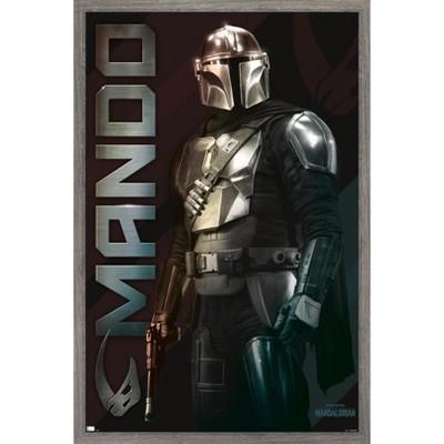 Trends International Star Wars: The Mandalorian - Name Framed Wall Poster Prints
