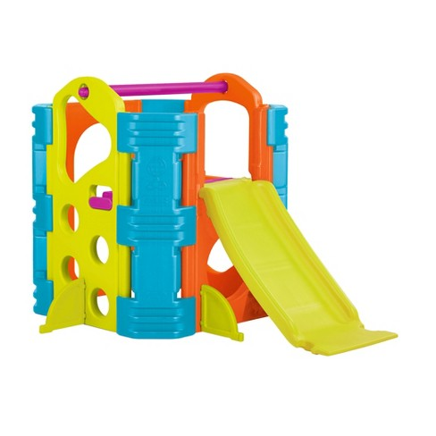 ECR4Kids Activity Park Playhouse for Kids, Indoor Outdoor Play House with Slide or Climb Stairs - image 1 of 4