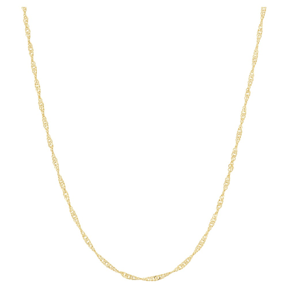 Adjustable Singapore Chain In 14k Gold Over Silver 16 22