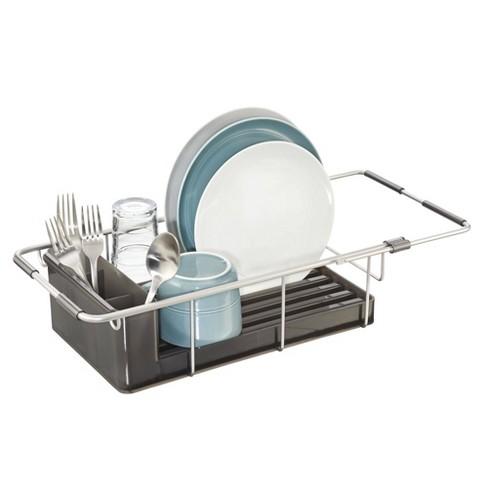 iDESIGN Metro Aluminum Over Sink Dish Drainer Silver - image 1 of 4