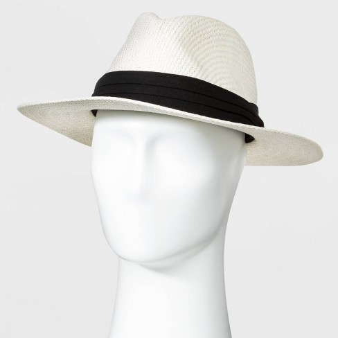 Men's Panama Paper Straw Hat - Goodfellow & Co™ White - image 1 of 2