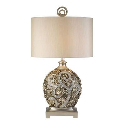 OK Lighting Silver Vine Table Lamp