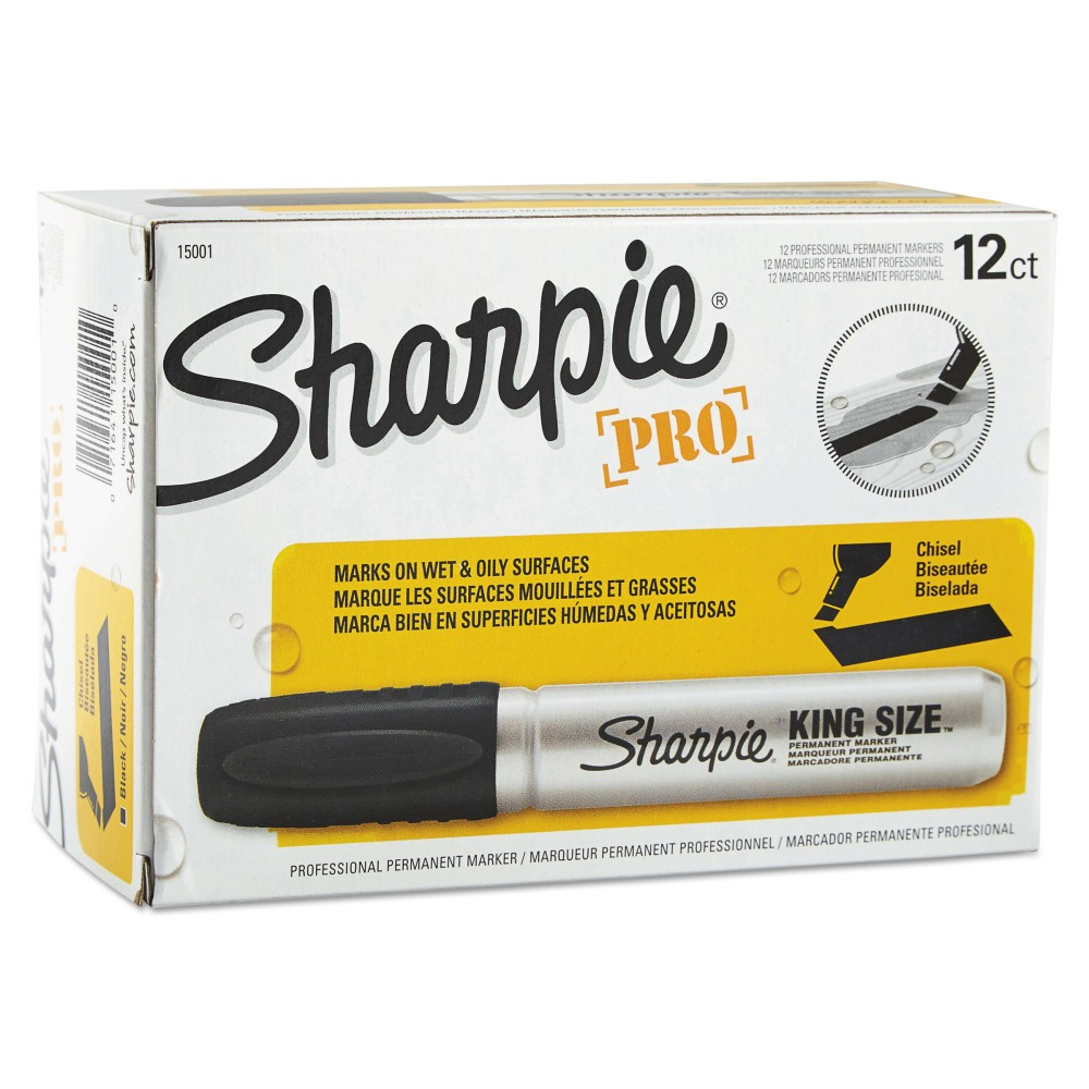 Image of Sharpie 12ct Chisel Tip King Size Permanent Marker - Black