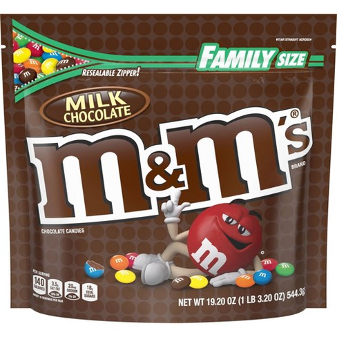 M&M's Family Size Milk Chocolate Candies - 19.2oz - image 1 of 4