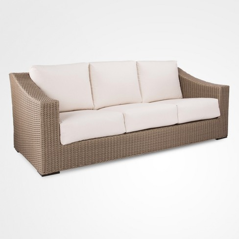 Premium Edgewood Wicker Patio Sofa - Smith & Hawken™ - image 1 of 4