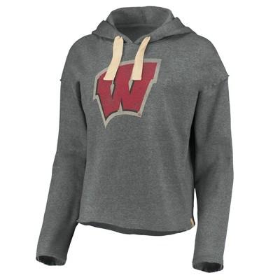NCAA Wisconsin Badgers Women's Gray Hoodie