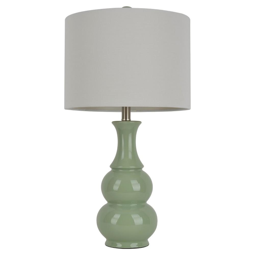 26 34 Ceramic Table Lamp Light Green J Hunt
