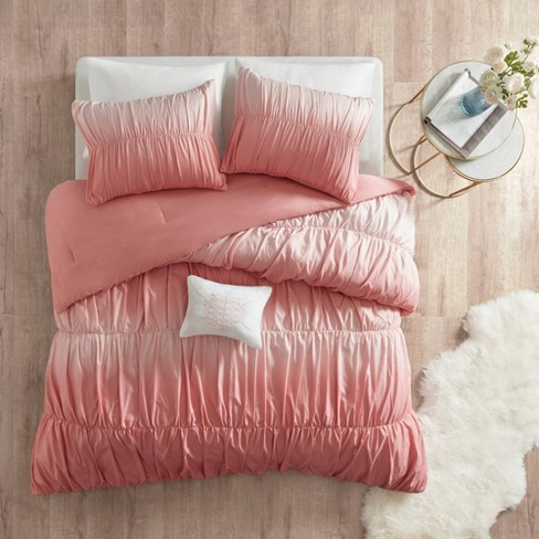 Lydia Ombre and Ruched Comforter Set - image 1 of 4