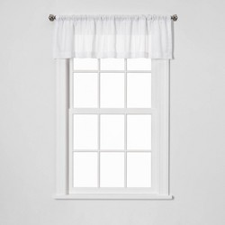 "15""x54"" Leno Window Valance White - Threshold™"
