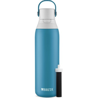 Brita Premium 20oz BPA Free Double Wall Insulated Water Bottle with Filter - Blue