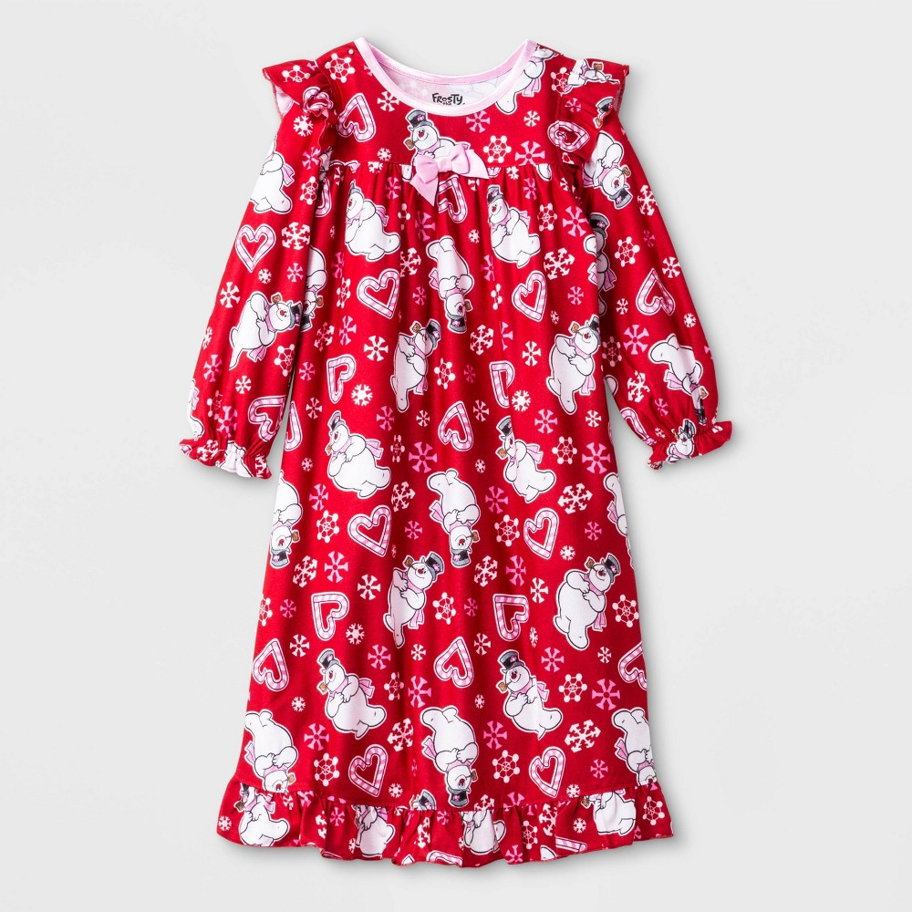 Image of Toddler Girls' Frosty the Snowman Pajama Nightgown - Red 4T, Girl's