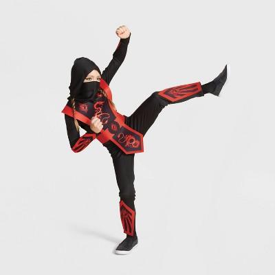 Kids' Red Ninja Halloween Costume Jumpsuit (with 2 Accessories) - Hyde & EEK! Boutique™