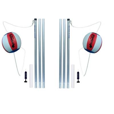 Park & Sun Sports Portable Backyard Tetherball Set w/ Accessories (2 Pack)