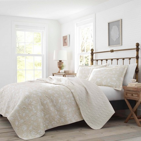 Full/Queen Joans Excursion Quilt Set Beige - Laura Ashley - image 1 of 3
