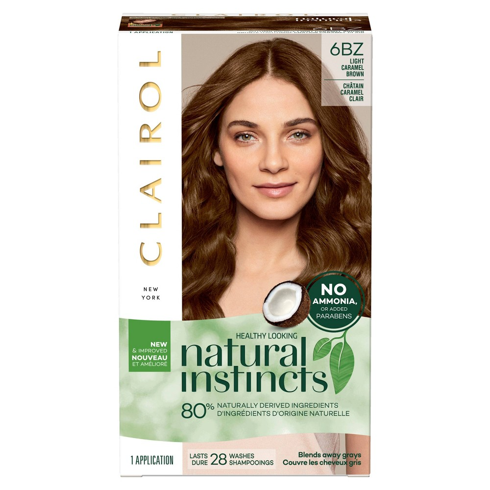 Natural Instincts Clairol Semi-Permanent Hair Color - 6BZ Caramel Brown, 6bz - Light Caramel Brown