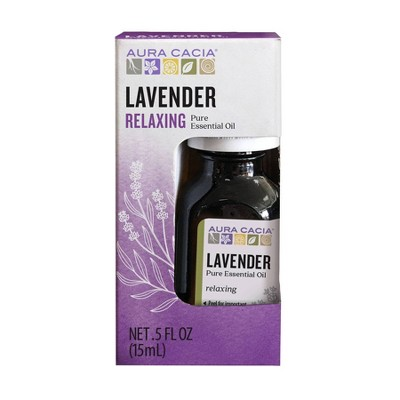 Aura Cacia Lavender Relaxing Pure Essential Oil - 0.5 fl oz