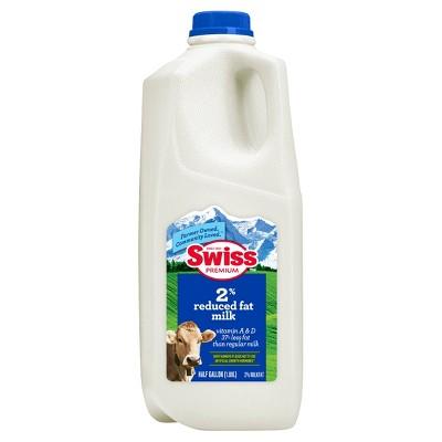 Swiss Premium 2% Reduced-Fat Milk - 0.5gal