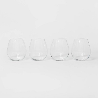 17oz 4pk Glass Stemless White Wine Glasses - Threshold™
