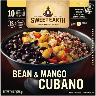 Sweet Earth Natural Foods Bean and Mango Frozen Cubano - 9oz
