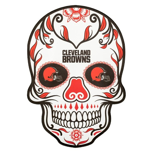 NFL Cleveland Browns Small Outdoor Skull Decal - image 1 of 2