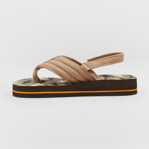 c22327c0a32d Toddler Boys  Henry Camo Flip Flop Sandals - Cat   Jack™ Brown   Target