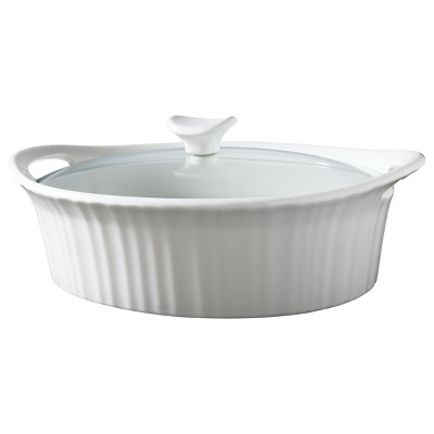 CorningWare 2 1/2 Quart Ceramic Casserole - White