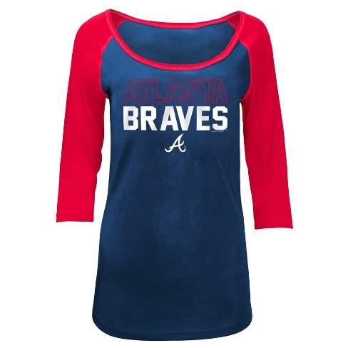 MLB Atlanta Braves Women's Play Ball Fashion Jersey - image 1 of 1