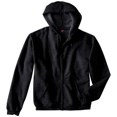 5e427bc611 Hanes® Premium Men s Fleece Zip-Up Hooded Sweatshirt - Dark Gray L   Target