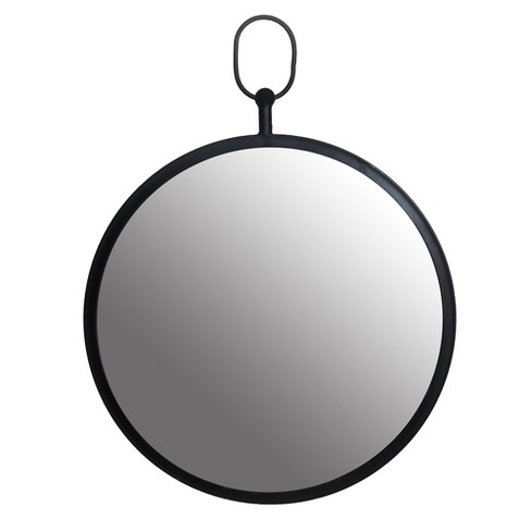 """18"""" x 18"""" Wall Mirror with Decorative Handle Black - Patton Wall Decor - image 1 of 4"""