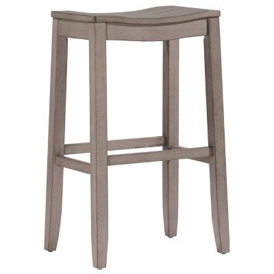 """Fiddler Backless 24"""" NonSwivel Counter Height Barstool Aged Gray - Hillsdale Furniture"""