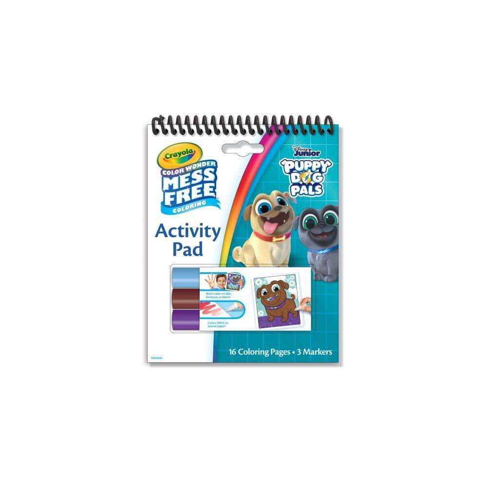 Image of Crayola Disney Puppy Dog Pals 16pg Color Wonder Travel Activity Pad (with 3 Color Wonder Markers)