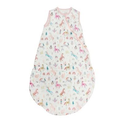 Loulou Lollipop Muslin Sleep Sack Wearable Blanket - Unicorn Dream 3-12 Months