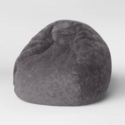 XL Fuzzy Bean Bag Gray - Pillowfort™