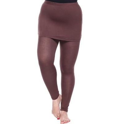 Women's Plus Size Skirted Leggings - White Mark