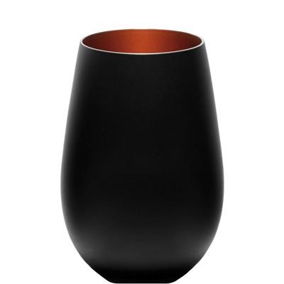 16.5oz 6pk Glass Olympia Tumbler Drinkware Set Black/Bronze - Stolzle Lausitz