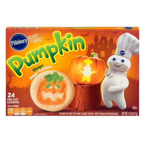 Pillsbury Ready To Bake Pumpkin Shape Sugar Cookies - 11oz ...
