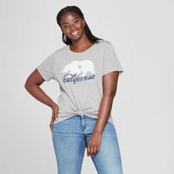 47bce9aed Women's Plus Size Short Sleeve California Script Graphic T-Shirt - Modern  Lux (Juniors