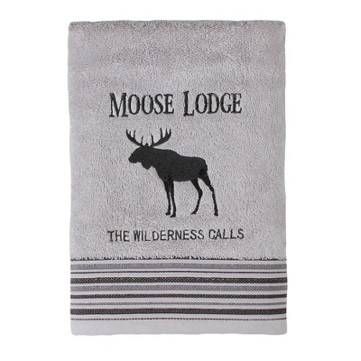 Wilderness Calling Bath Towel Gray - Saturday Knight Ltd.
