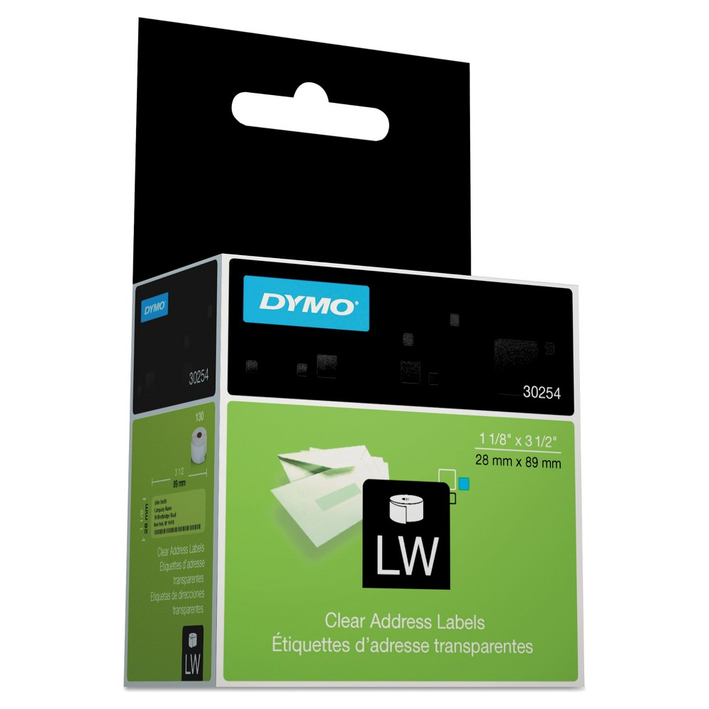 Dymo Address Labels - Clear (130 Per Box)