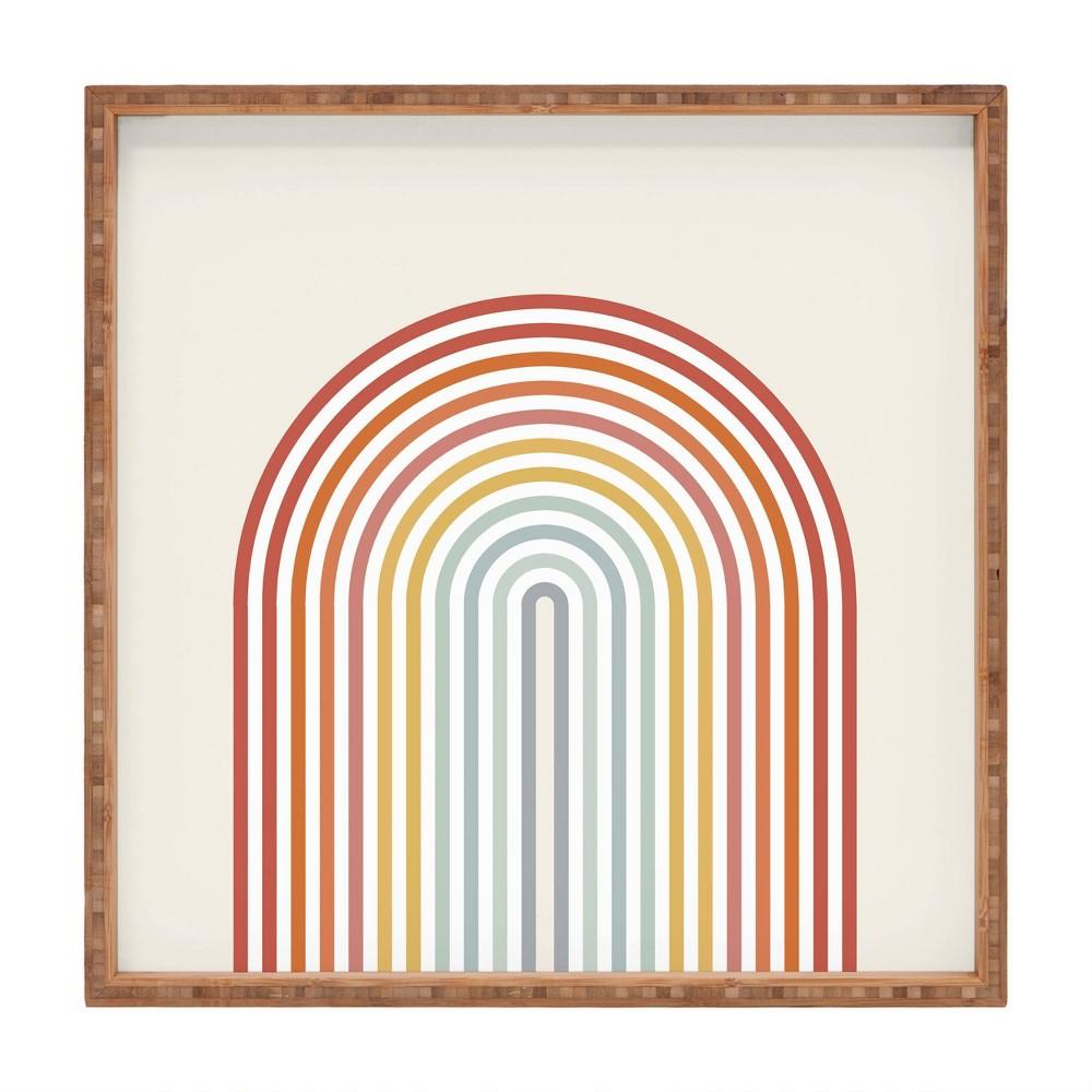 13 34 Wood Showmemars Minimalist Rainbow Small Square Tray Society6